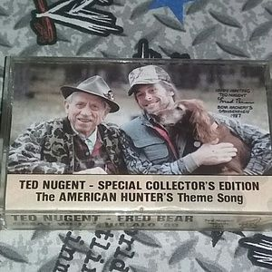1989 Ted Nugent Fred Bear Cassette Tape Single 80s